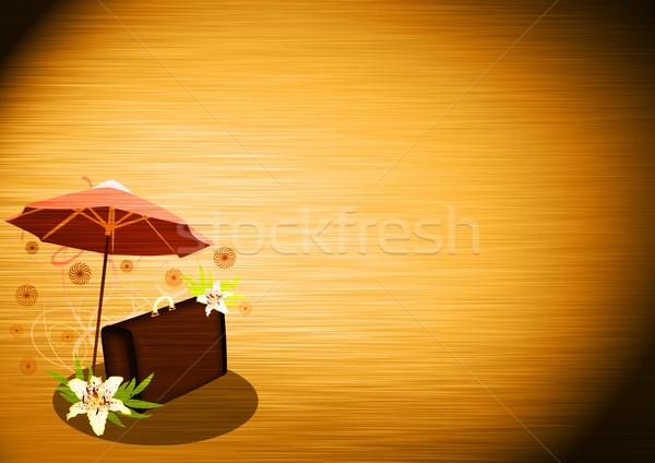 Yaz seyahat soyut çiçek çanta beyaz Stok fotoğraf © IstONE_hun