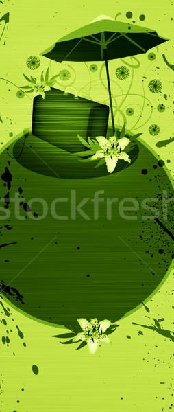 Nyár utazás absztrakt virág táska fehér Stock fotó © IstONE_hun