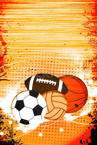 Spor soyut grunge uzay futbol Stok fotoğraf © IstONE_hun