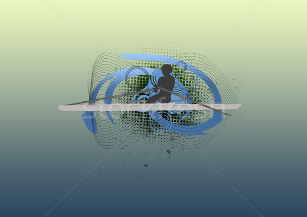 Kürek çekme uzay deniz okyanus mavi göl Stok fotoğraf © IstONE_hun