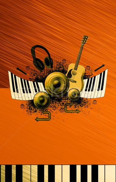 Music poster background Stock photo © IstONE_hun