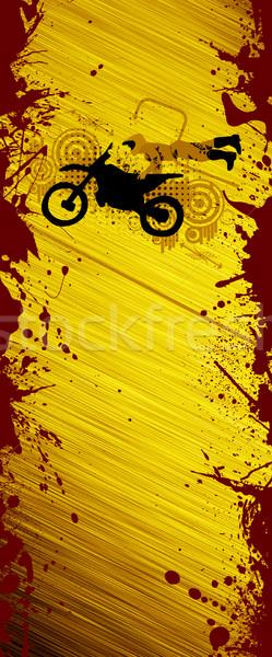 Motocross atlama soyut grunge motosiklet çapraz Stok fotoğraf © IstONE_hun