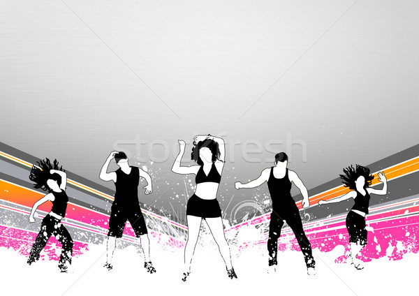 Fitness dans abstract kleur zumba ruimte Stockfoto © IstONE_hun