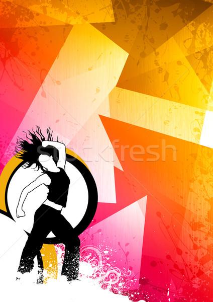 Fitness dans abstract kleur zumba ruimte Stockfoto © IstONE_hun