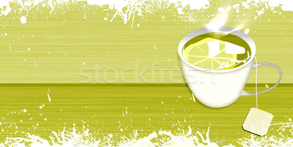 Fincan çay soyut nesne uzay dizayn Stok fotoğraf © IstONE_hun