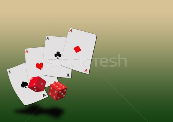Grunge poker uzay poster web broşür Stok fotoğraf © IstONE_hun