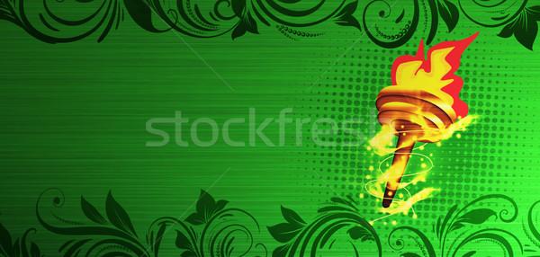 Burning torch Stock photo © IstONE_hun