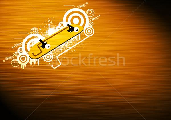 Kaykay soyut grunge renk uzay spor Stok fotoğraf © IstONE_hun