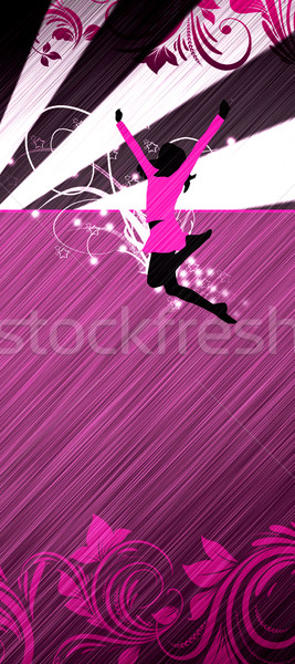 Cheerleader abstract kleur poster familie muziek Stockfoto © IstONE_hun