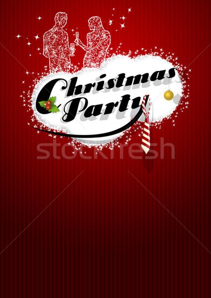 Noel parti ofis poster uzay iş Stok fotoğraf © IstONE_hun