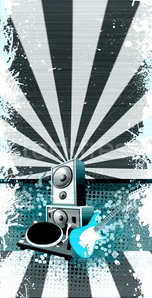 Konser nesneler soyut grunge uzay müzik Stok fotoğraf © IstONE_hun