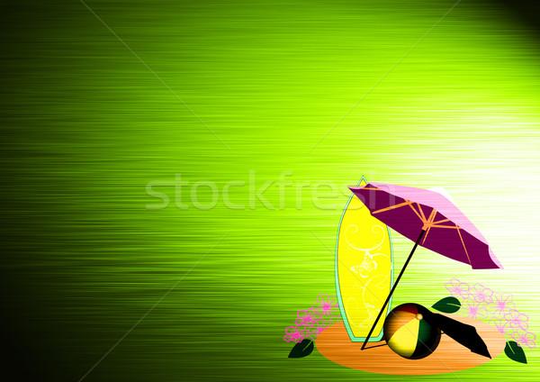 Abstract strandvakantie objecten ruimte strand man Stockfoto © IstONE_hun