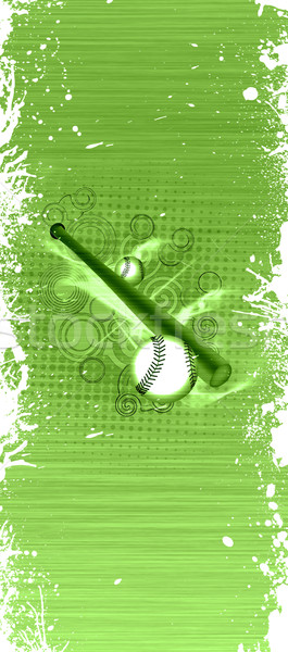 Baseball objecten abstract grunge ruimte sport Stockfoto © IstONE_hun