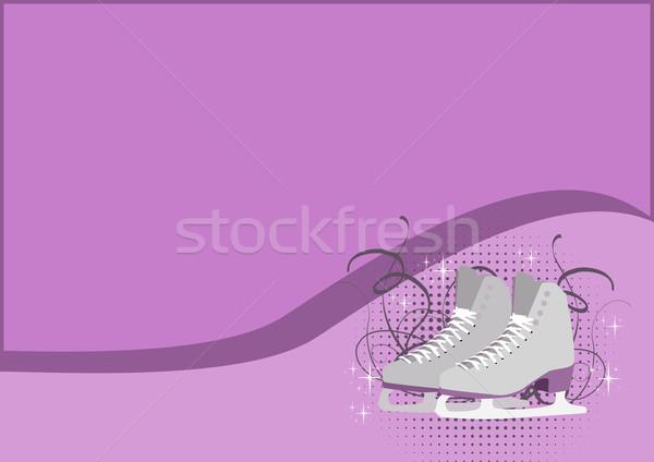 Skate patinaje artístico hielo espacio fondo invierno Foto stock © IstONE_hun