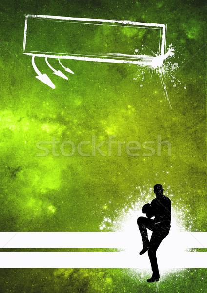 Beysbol spor poster beyzbol oyuncusu grunge uzay Stok fotoğraf © IstONE_hun