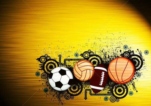 Fútbol balonmano fútbol espacio baloncesto Foto stock © IstONE_hun