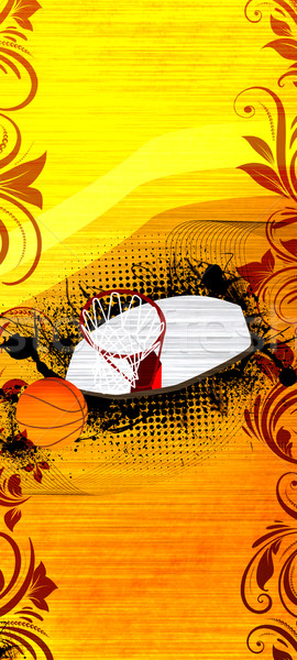 Basketbol spor uzay poster web broşür Stok fotoğraf © IstONE_hun