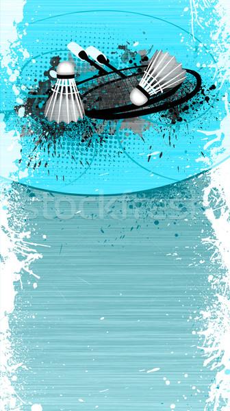 Badminton objetos abstrato grunge espaço luz Foto stock © IstONE_hun