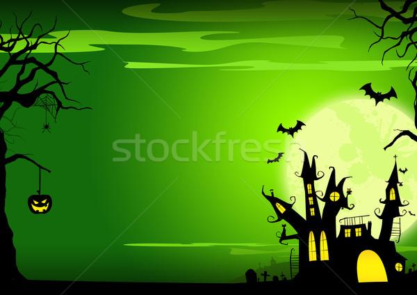 Halloween poster kale kabak ev Stok fotoğraf © IstONE_hun