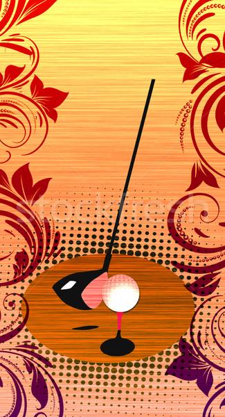 Golf abstract grunge kleur ruimte achtergrond Stockfoto © IstONE_hun