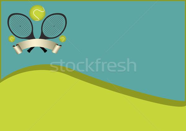 Tennis sport object ruimte gezondheid achtergrond Stockfoto © IstONE_hun