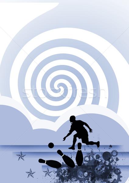 Bowling uzay poster web broşür dergi Stok fotoğraf © IstONE_hun