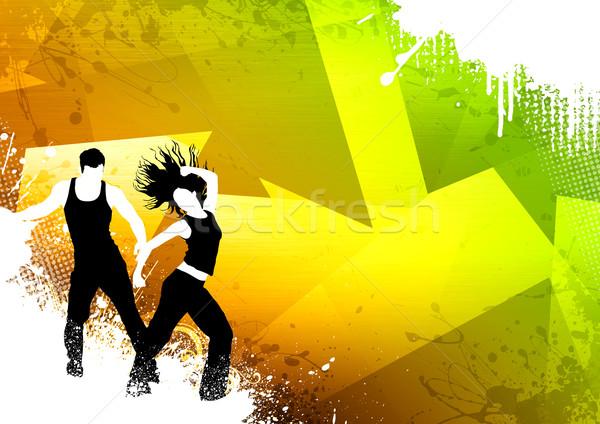 Stockfoto: Fitness · dans · abstract · kleur · zumba · ruimte
