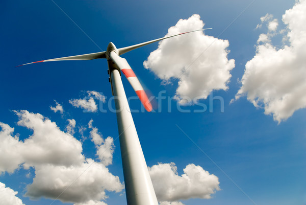 wind turbine and clouds Stock photo © italianestro