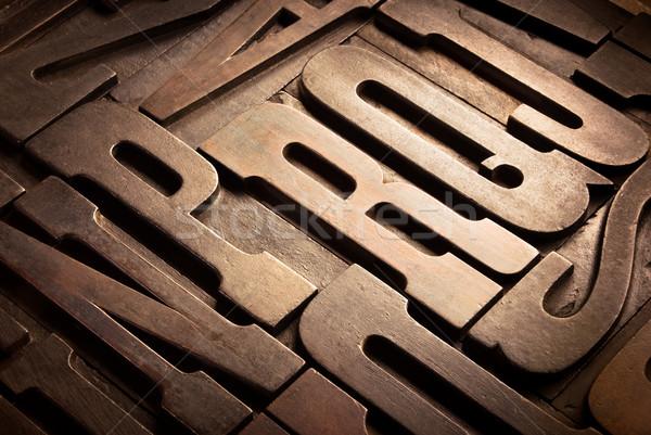 Antiguos tipográfico bloques edad perspectiva Foto stock © italianestro