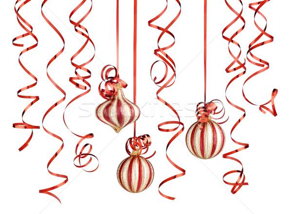 Navidad decoraciones aislado blanco Foto stock © italianestro