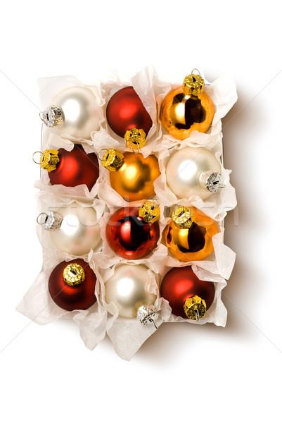 Navidad pelota cuadro árbol Foto stock © italianestro