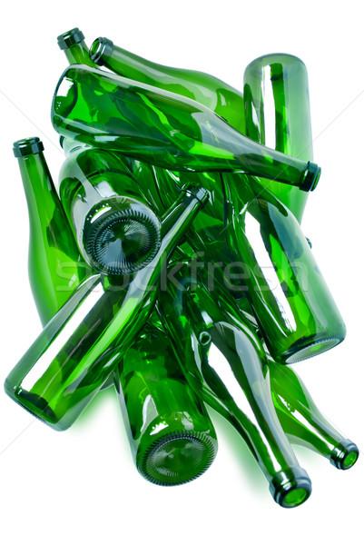 Stok fotoğraf: Yeşil · cam · şişeler · çöp · hazır