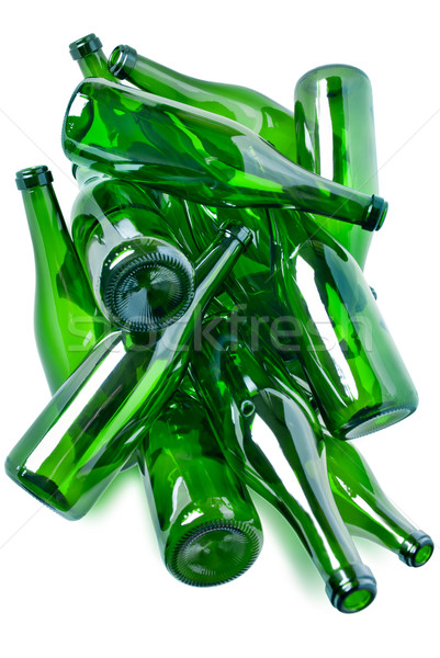 green glass bottles garbage Stock photo © italianestro