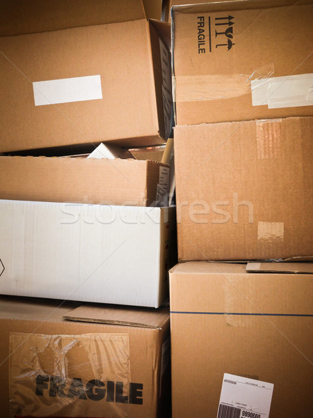 cardboard boxes Stock photo © italianestro