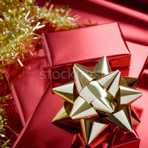 Natale rosso pacchetto carta Foto d'archivio © italianestro