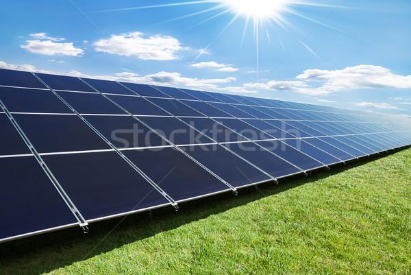 ソーラーパネル 観点 緑 エネルギー ストックフォト © italianestro