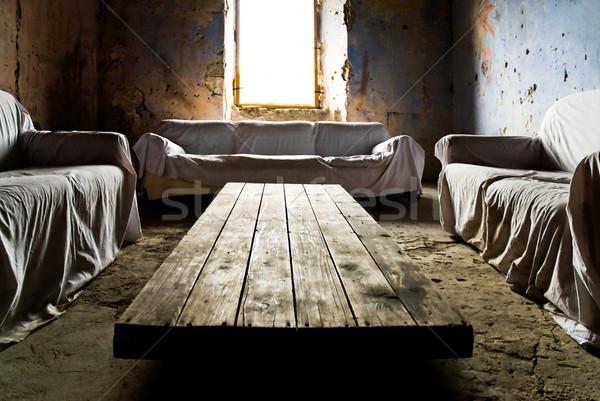 Oturma odası dinlenmek oda sanat ev pencere Stok fotoğraf © italianestro