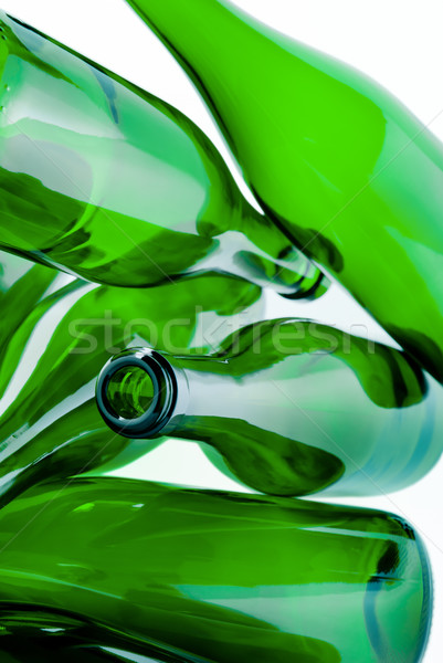 Stock fotó: Zöld · üveg · üvegek · szemét · halom · kész