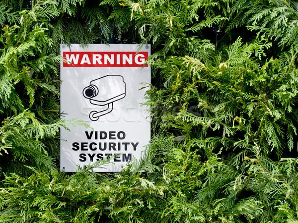 Cctv vídeo seguridad alerta cerca signo Foto stock © italianestro