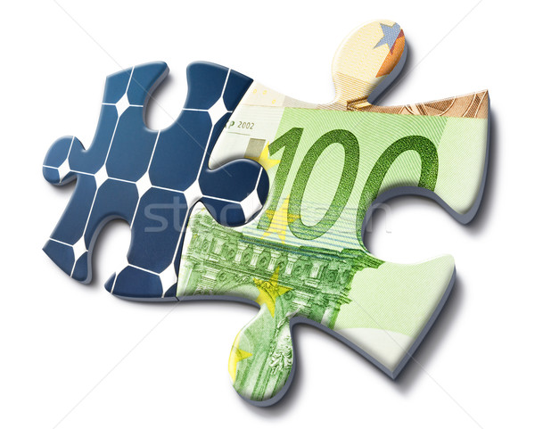 Stock photo: solar energy is money saving