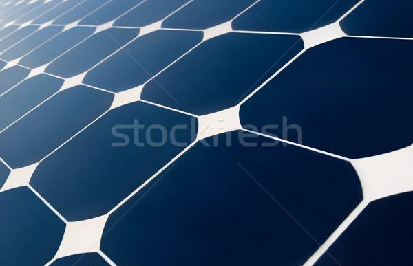 Zonnepanelen geometrie sluiten zonnepaneel zon Stockfoto © italianestro