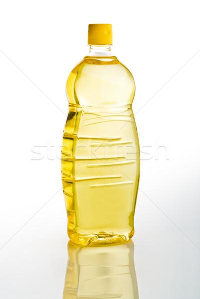 Stock photo: seeds oil bottle
