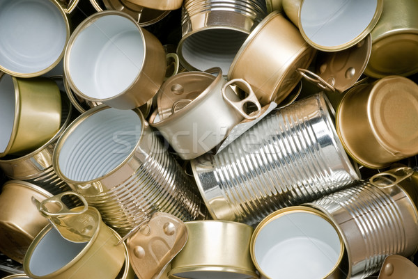 Tin cans ready for recycling Stock photo © italianestro