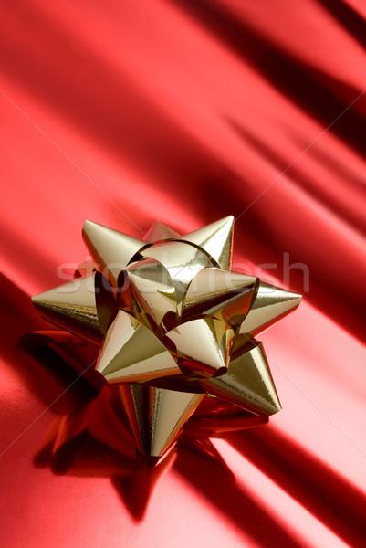 Navidad tiempo dorado rojo paquete papel Foto stock © italianestro