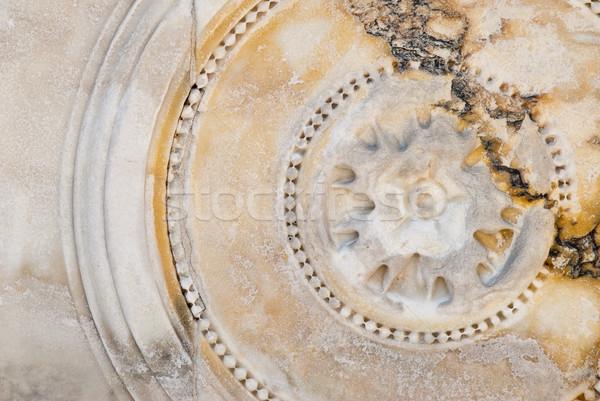 circular bas-relief on marble Stock photo © italianestro