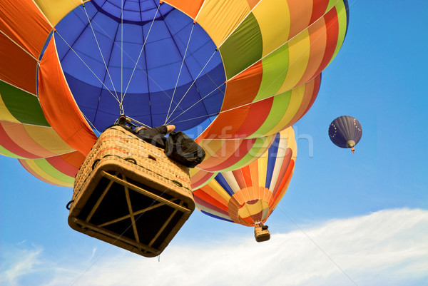 colourful hot air balloons in the blue sky Stock photo © italianestro