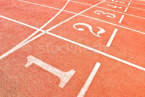 Tema números ejecutando deporte fitness rojo Foto stock © italianestro
