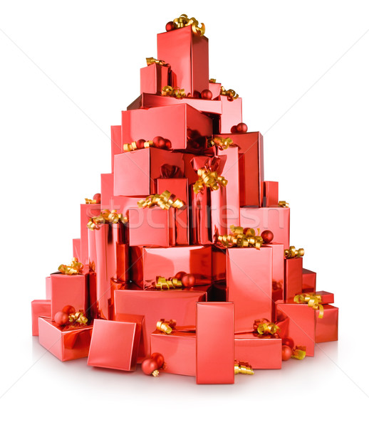 red boxes tree Stock photo © italianestro