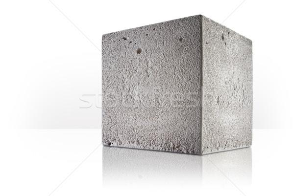 Concrete cubo bianco sfondo prospettiva Foto d'archivio © italianestro
