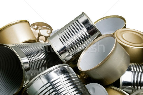 tin cans for recycling Stock photo © italianestro